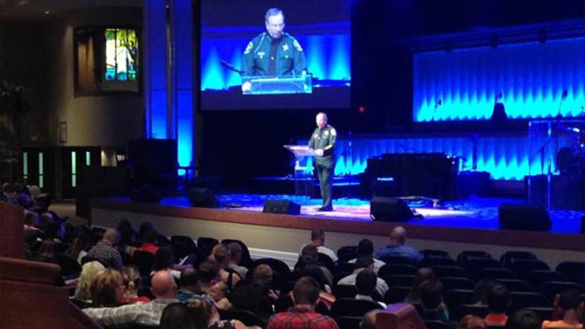 061815 sheriff grady judd preaching in uniform WFLA