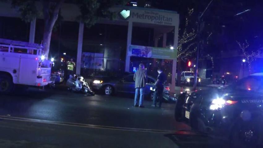 10-12-17 Downtown San Diego Car Vs. Hydrant