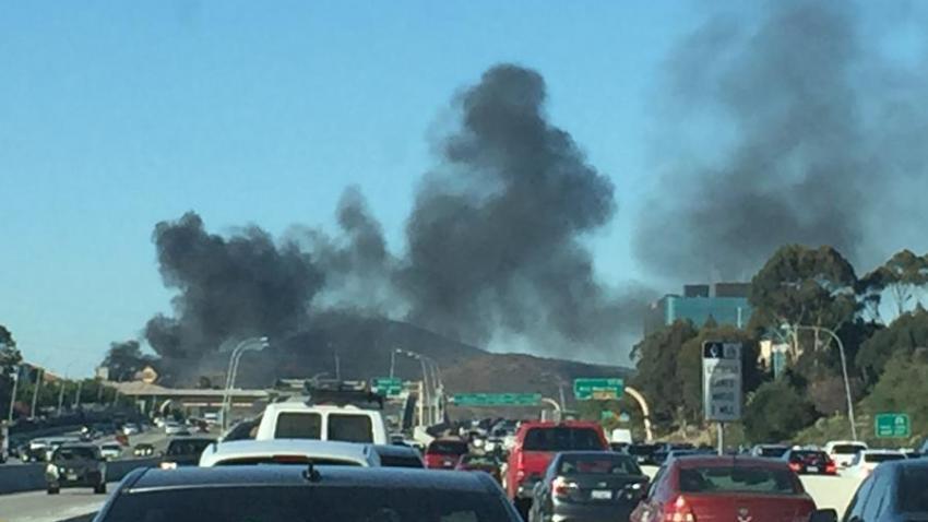 10-21-16 Mira Mesa Car Fire