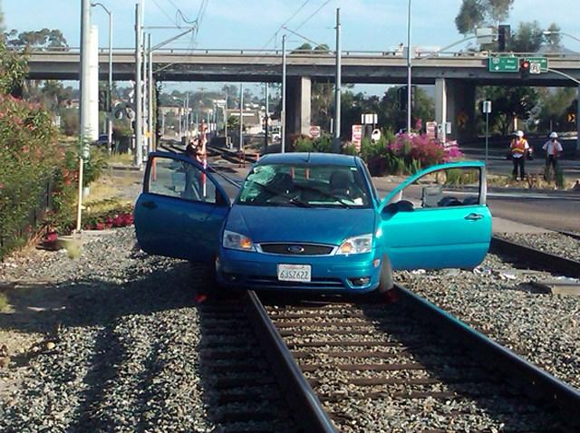 trolley track crash