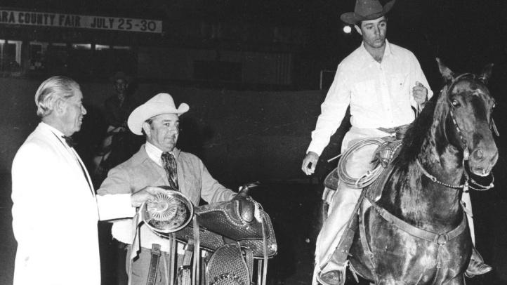 2019 Vaquero of the Year Charles Tyke Minetti as 1972 SBCountyFairChampionStockHorseAward Winner