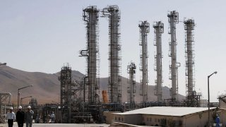 In this Oct. 27, 2004, file photo, Iran's controversial heavy water production facility is seen in Arak, south of the Iranian capital Tehran.