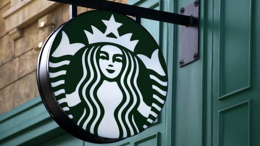 A Starbucks coffee shop on the Strip (Las Vegas Boulevard) in Las Vegas, Nevada.