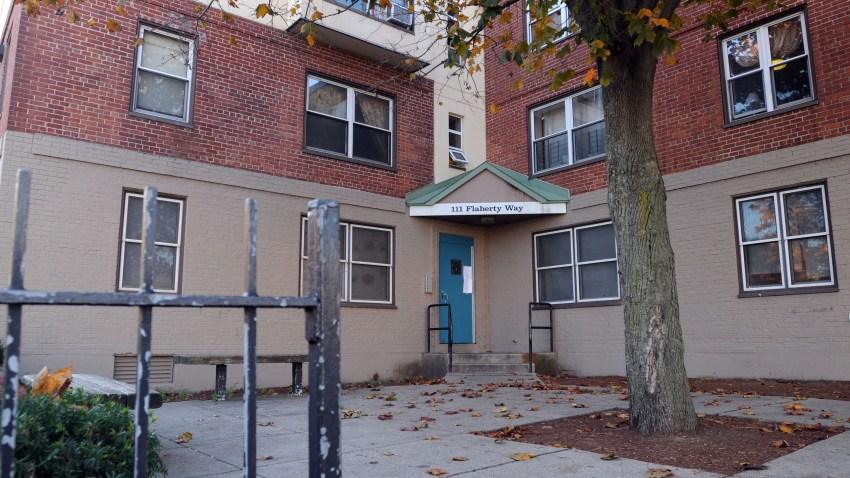 Obama's aunt's apartment building in Boston
