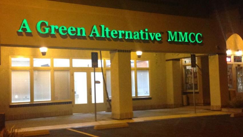 A green alternative medical marijuana collective pot shop