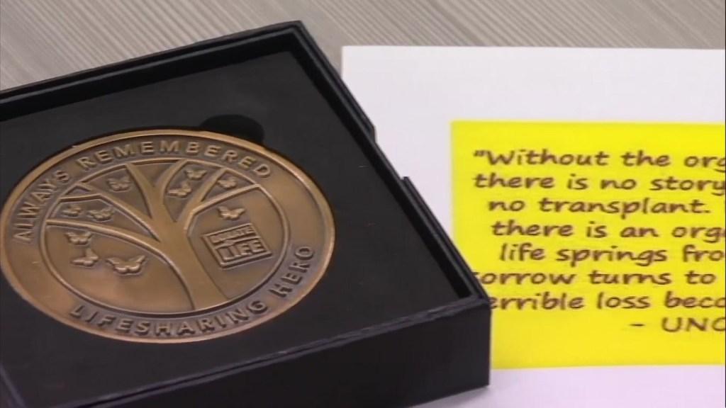 organ donor medal