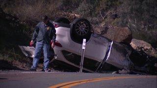 Car crash along Harmon Grove