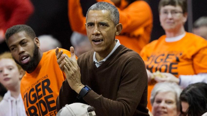 Obama NCAA Princeton Green Bay Basketball