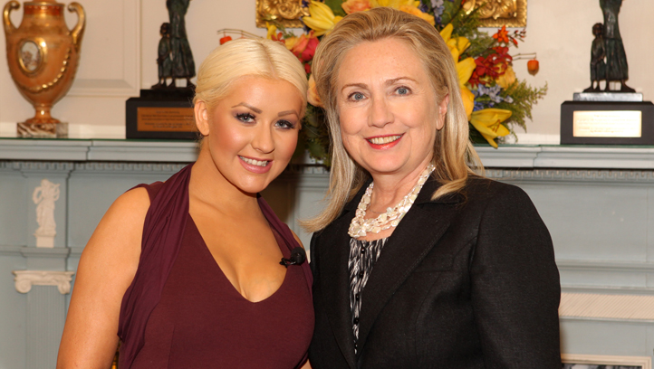 State Department honors Secretary of State Hillary Clinton, Chri