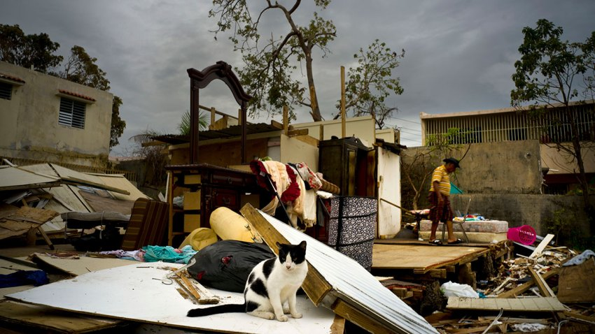 Hurricane Maria Leaving Puerto Rico