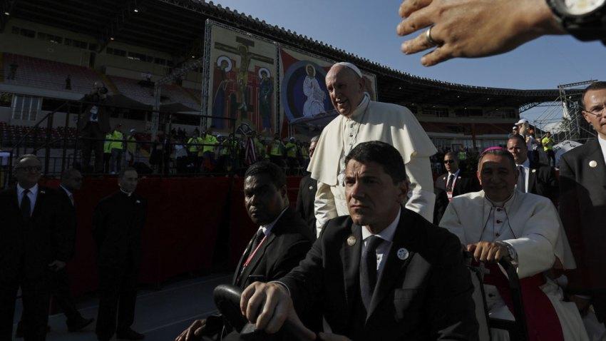 APTOPIX Panama Pope