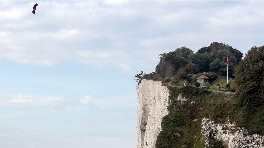 Britain France Flying Man