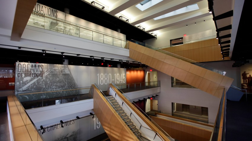 The interior of The National Museum of American Jewish History in Philadelphia