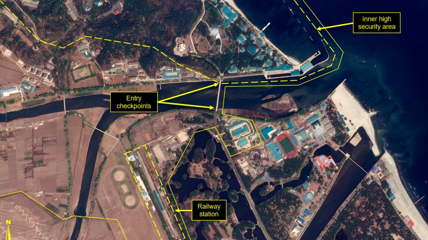 Satellite image of Wonsan complex in Wonsan, North Korea.