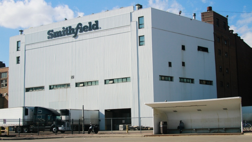 FILE - This April 8, 2020, file photo shows the Smithfield pork processing plant in Sioux Falls, S.D., where health officials reported dozens of employees have confirmed cases of the coronavirus infection.