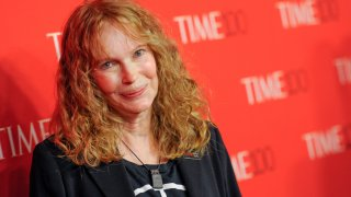 "In this April 21, 2015, file photo, Mia Farrow attends the TIME 100 Gala, celebrating the 100 most influential people in the world, at the Frederick P. Rose Hall, Time Warner Center in New York. Farrow spoke about the deaths of three of her children after ""vicious rumors"" came out about their deaths on March 31, 2021."