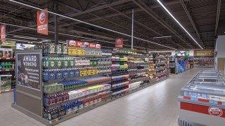 The interior of an Aldi supermarket