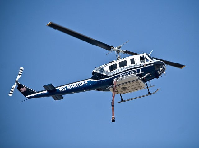 One of the ASTREA helicopters