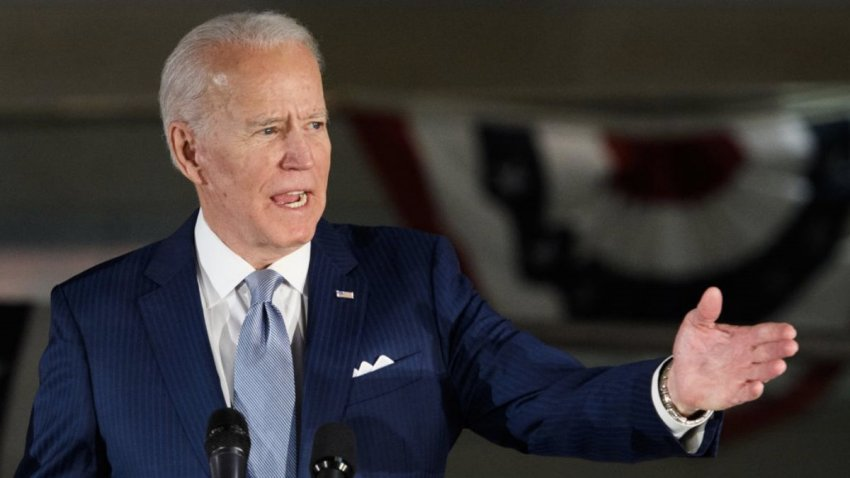 In this March 10, 2020, file photo, Democratic presidential hopeful former Vice President Joe Biden speaks at the National Constitution Center in Philadelphia, Pennsylvania.
