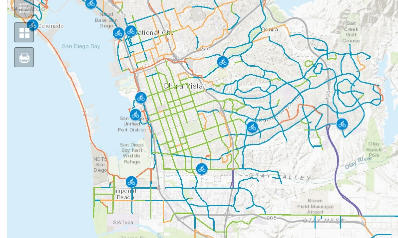 New Interactive Bike Map Released for San Diego County ...