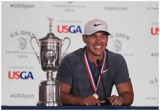 Brooks Koepka US Open Trophy