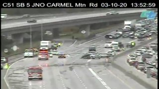 CalTrans Traffic Camera shows crash on I-5