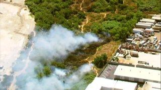 brush fire in Chula Vista