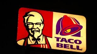 kfc taco bell sign