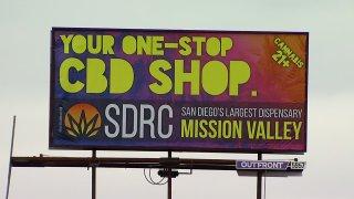 marijuana billboard