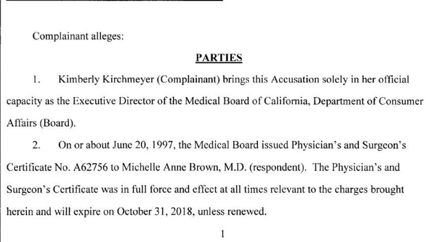Complaint Against La Jolla Physician