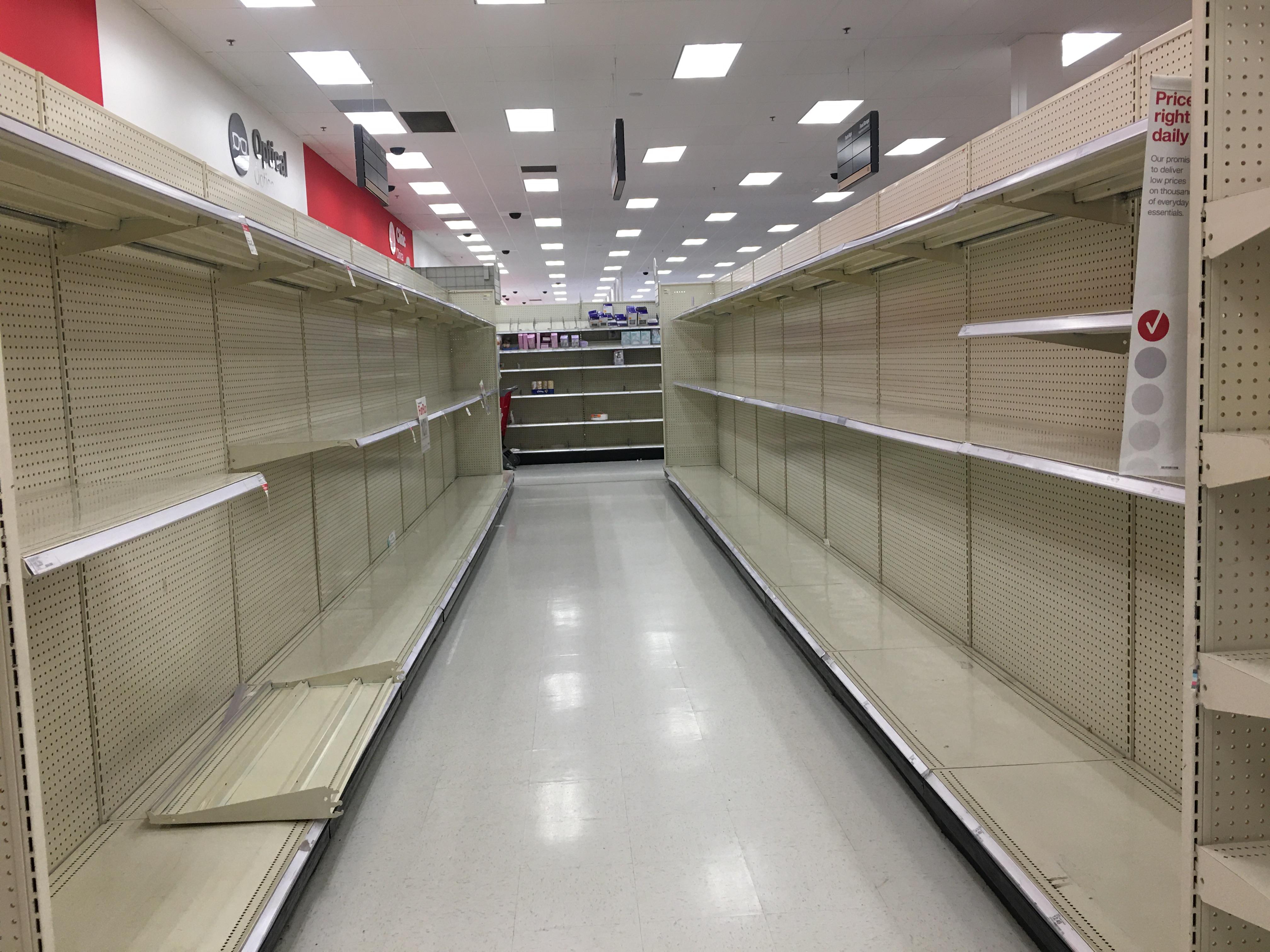 Image result for empty shelves coronavirus