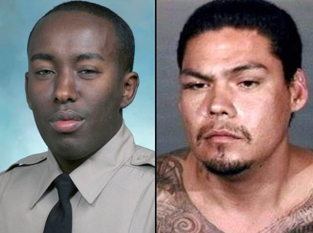 Deputy Mohamed Ahmed and suspect Nestor Torres