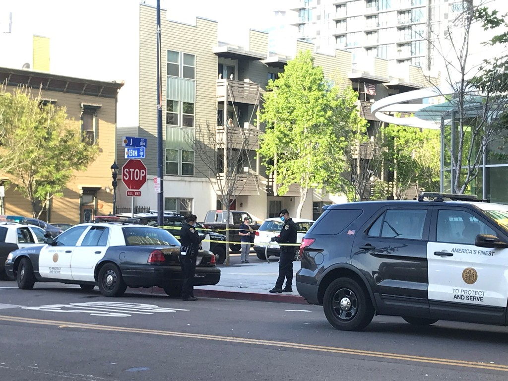 San Diego police investigate reports of shots fired at the Pinnacle at the Park high-rise in downtown San Diego