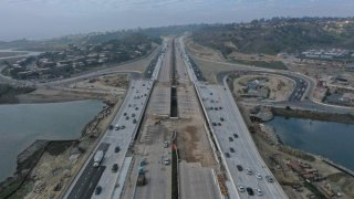 Arial view of I-5