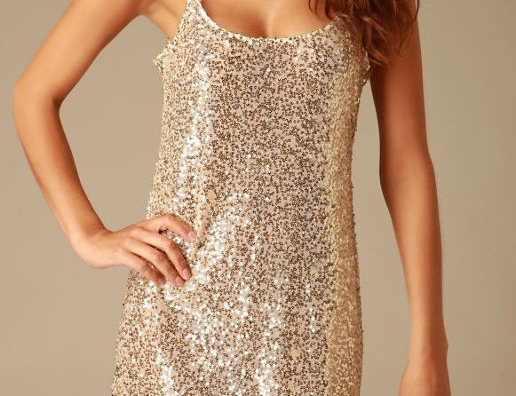 Free People Sequined Mesh Tunic