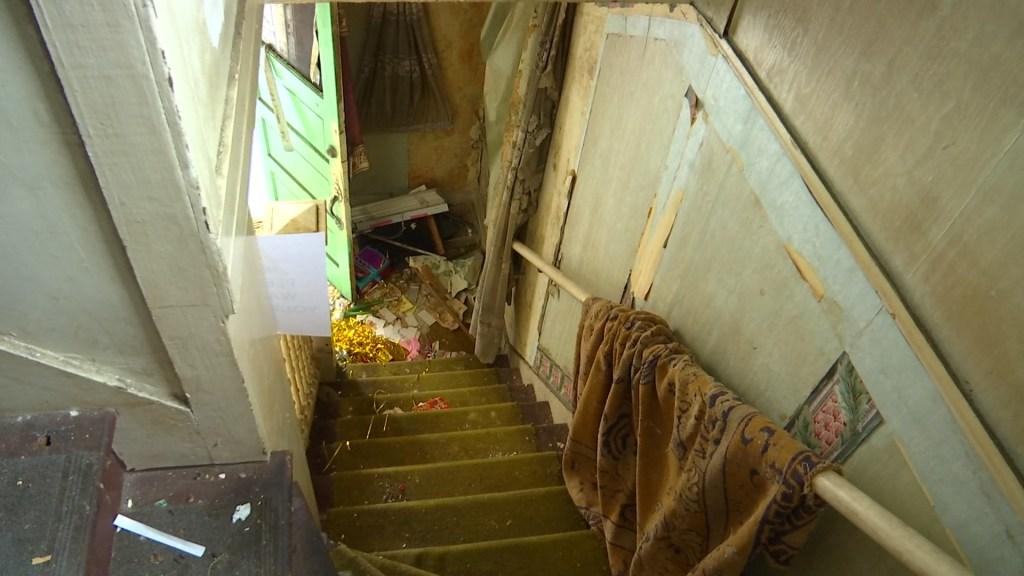 debris inside a home for NBC 7