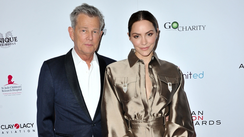 In this May 19, 2019, file photo, David Foster and Katharine McPhee attend the American Icon Awards at the Beverly Wilshire Four Seasons Hotel in Beverly Hills, California.