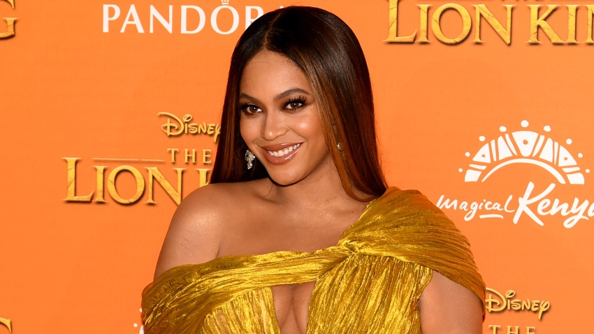 """Beyonce Knowles-Carter attends the European Premiere of Disney's """"The Lion King"""" at Odeon Luxe Leicester Square on July 14, 2019"""