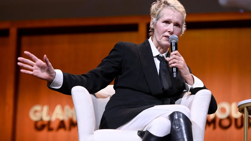 "Columnist E. Jean Carroll speaks onstage during the ""How to Write Your Own Life"" panel at the 2019 Glamour Women of the Year Summit at Alice Tully Hall in New York City."
