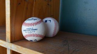 Two baseballs