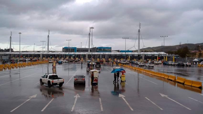 U.S.-Mexico border empty