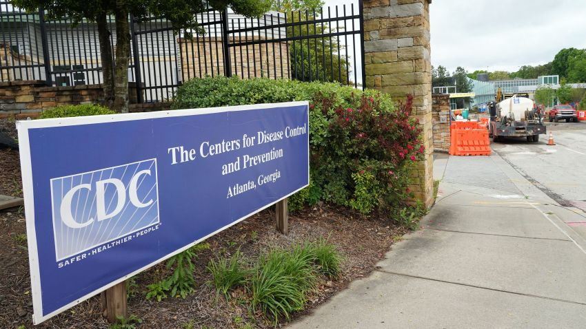 This April 23, 2020, file photo, shows the entrance of the Centers for Disease Control and Prevention in Atlanta, Georgia.