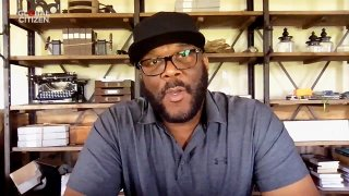 """In this screengrab, Tyler Perry speaks during """"One World: Together At Home"""" presented by Global Citizen on April, 18, 2020."""