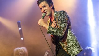 The Killers (Brandon Flowers pictured) head into Pechanga Arena in August.