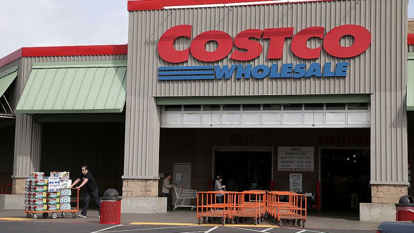 A customer leaves a Costco store on March 6, 2014 in Richmond, California.