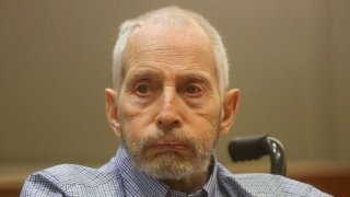 In this file photo, New York real estate scion Robert Durst appears in the Los Angeles Superior Court Airport Branch for a pre-trial motions hearing involving witnesses that are expected to testify before the trial January 6, 2017.