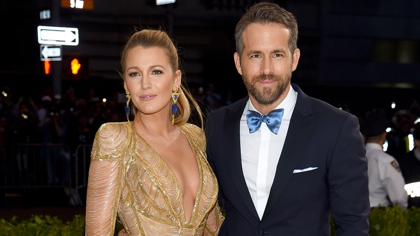 "In this May 1, 2017, file photo, Blake Lively and Ryan Reynolds attend the ""Rei Kawakubo/Comme des Garcons: Art Of The In-Between"" Costume Institute Gala at Metropolitan Museum in New York City."