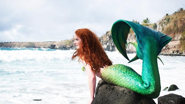 Green-Little-Mermaid-at-Beach-Medium-Web