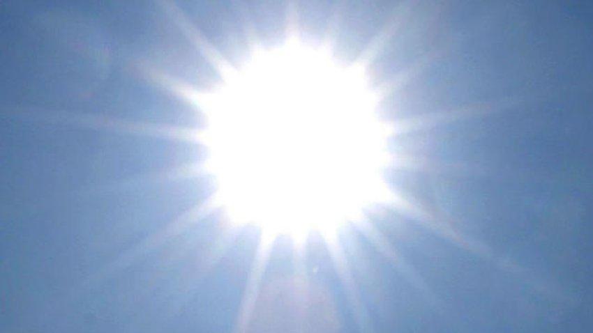 sun in heat wave