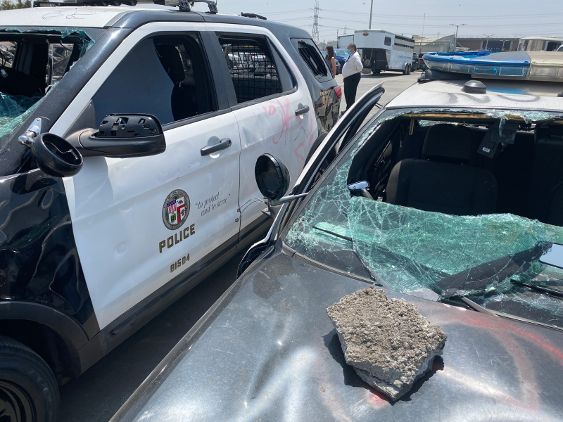 LAPD Cars Damaged During Protests Cost $80,000 Each